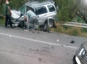 Κρήτη: Τροχαίο με 5 τραυματίες στην εθνική οδό Ηρακλείου – Ρεθύμνου [pics]