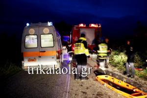 Τραγωδία στα Τρίκαλα – Δύο νεκροί σε τροχαίο – Καρφώθηκε σε πλάτανο το αυτοκίνητο!