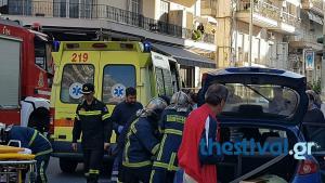 Θεσσαλονίκη: Νέο τροχαίο με 3 τραυματίες – Αυτοκίνητο συγκρούστηκε με λεωφορείο σε διασταύρωση [pics, vid]