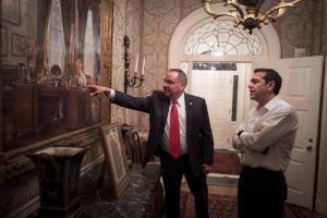 Στο ιστορικό Blair House ο Αλέξης Τσίπρας – Το «tweet» και οι φωτογραφίες του πρωθυπουργού