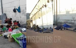 Χίος: Εικόνες ντροπής με εξαθλιωμένους πρόσφυγες μετά τη βροχή – Ξυπόλητα παιδιά στο κρύο [pics]