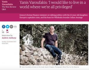 Βαρουφάκης: Ο Τσίπρας δεν έχει τίποτα να μου πει