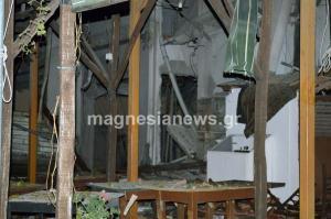 Βόλος: Βομβαρδισμένο τοπίο η Πορταριά! Έκρηξη προπανίου ισοπέδωσε ταβέρνα [pics, vids]