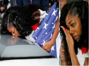 «Ο Τραμπ με έκανε να κλάψω» λέει η χήρα του στρατιώτη! [vid, pics]