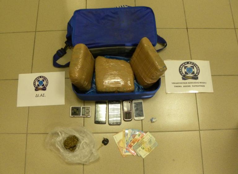 Βόλος: Τους έπιασαν με τρία κιλά κάνναβης – Τέσσερις συλλήψεις | Newsit.gr