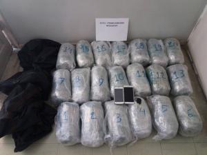 Μεσολόγγι: Πέταξαν 21 κιλά κάνναβης την ώρα της καταδίωξης