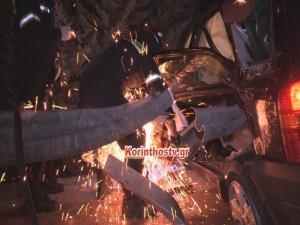 Κόρινθος: Τρομακτικό τροχαίο στην εθνική οδό – Η μπάρα διαπέρασε το αυτοκίνητο μετά τα διόδια [pics, vid]