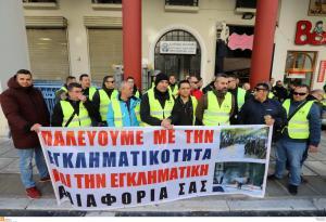 Θεσσαλονίκη: Αστυνομικοί στο δρόμο με πανό και συνθήματα – Οι εικόνες της διαμαρτυρίας και τα αιτήματα [pics, vids]