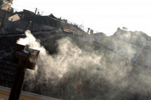 Βόλος: Στα ύψη η αιθαλομίχλη από τζάκια και ξυλόσομπες