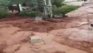 Καιρός – Νέα Πέραμος: Απίστευτο βίντεο – Εξαφανίστηκε το αυτοκίνητο