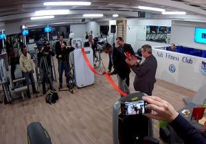 Ο Τραινός Δέλλας εγκαινίασε το γυμναστήριο του Συλλόγου Alpha Bank