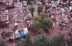 Μάνδρα: Νέες ανατριχιαστικές εικόνες από drone – Απίστευτες καταστροφές από τις φονικές πλημμύρες [vid]
