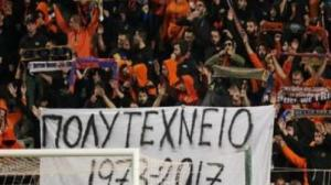 ΑΠΟΕΛ – Φίλαθλος ζητά συγγνώμη απ'τον ελληνικό λαό για το πανό για το Πολυτεχνείο!