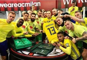 «Τρελάθηκαν» οι Σουηδοί παίκτες! Δεν ξέχασαν τον Γιόχανσον [pic, vid]