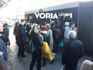 Θεσσαλονίκη: Τα λεωφορεία της οργής – Μπάχαλο με τα δρομολόγια και συνεχείς εντάσεις [pic, vid]