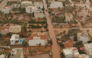 Ελευσίνα: Συγκλονιστικές εικόνες καταστροφής από drone – Ο θανατηφόρος κόκκινος χείμαρρος που σαρώνει τα πάντα [vid]