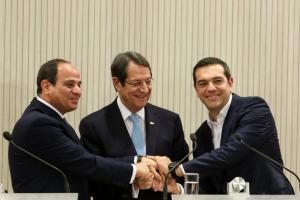 Kύπρος- Ελλάδα – Αίγυπτος θα οριοθετήσουν τα κοινά θαλάσσια σύνορα τους –Κοινή Διακήρυξη