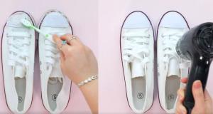 Πώς θα κάνετε τα παλιά άσπρα παπούτσια σας σαν καινούργια