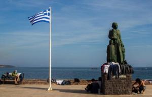 Μυτιλήνη: Άγνωστοι βανδάλισαν μνημείο για τους πρόσφυγες που έχουν πνιγεί