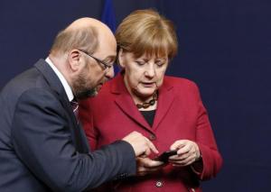 """Στον """"αέρα"""" η γερμανική κυβέρνηση – Mε την πλάτη στον τοίχο Μέρκελ και Σουλτς"""