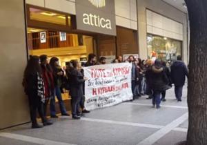 Θεσσαλονίκη: Ένταση μπροστά από ανοιχτά καταστήματα με πανό και συνθήματα [pics, vids]
