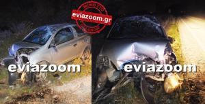 Χαλκίδα: Έσκασε το λάστιχο και το αυτοκίνητο έγινε συντρίμμια – Τροχαίο σοκ στη Γλύφα [pics, vid]