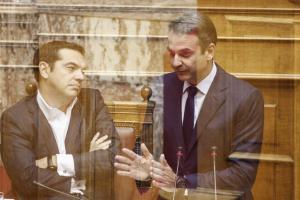 """""""Σκοτωμός"""" Τσίπρα – Μητσοτάκη στην Βουλή για εγκληματικότητα, Siemens και Αυγενάκη"""