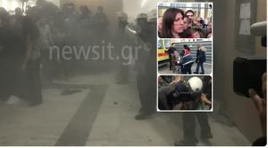 «Εκρηκτικοί» πλειστηριασμοί! Ξύλο στο Ειρηνοδικείο και άγρια επεισόδια μεταξύ αστυνομικών και «Δεν Πληρώνω»