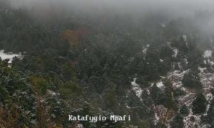 Καιρός: Ο χειμώνας είναι εδώ – Χιονίζει στην Πάρνηθα [pics]