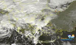 Καιρός: Ο κυκλώνας «Ζήνωνας» κατευθύνεται προς την χώρα μας! Δορυφορικές εικόνες [vid]