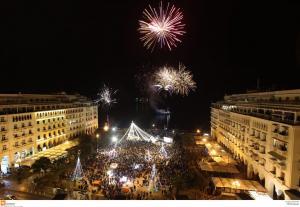 Θεσσαλονίκη: Αλλαγή του χρόνου στην πλατεία Αριστοτέλους