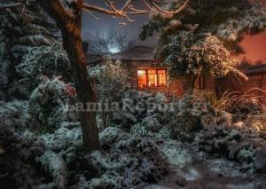 Φθιώτιδα: Εκπληκτικές εικόνες στα χιόνια – Στα λευκά και η Λαμία – Τα σχολεία που έμειναν κλειστά [pics]