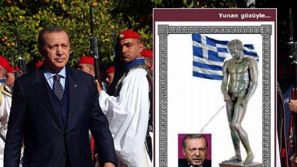 Οργή στην Τουρκία με πρωτοσέλιδο που δείχνει ελληνικό άγαλμα να ουρεί τον Ερντογάν!   Newsit.gr