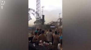 Σοκαριστικές εικόνες! Οι άνεμοι γκρέμισαν τη σκηνή – Νεκρός ο DJ