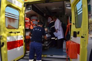 Αερομεταφορά ασθενή από τη Σαντορίνη στην Κρήτη