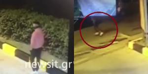 """Βίντεο σοκ! Η στιγμή που ο """"δράκος"""" των  Αμπελοκήπων επιτίθεται σε γυναίκα"""