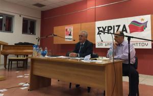 Εισβολή αντιεξουσιαστών σε εκδήλωση που μιλούσε ο Δραγασάκης