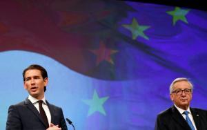 «Καρφιά» Γιούνκερ: Συνεργάζομαι με τον ακροδεξιό εταίρο του Τσίπρα γιατί όχι με τον Κουρτς; [vid]