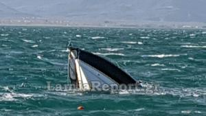 Καιρός: «Λυσσασμένοι» άνεμοι στην Φθιώτιδα – Βούλιαξε σκάφος που ήταν αγκυροβολημένο! [pics]