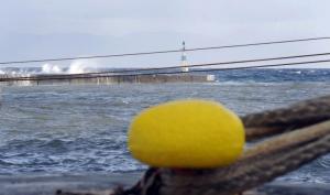 Κακοκαιρία: Δεμένα τα πλοία λόγω των ισχυρών ανέμων