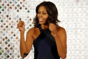Η Μισέλ Ομπάμα τρώει… «ελληνικά»