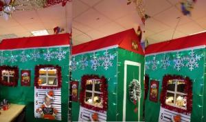 Πώς στόλισε αυτό το αφεντικό το γραφείο του για τα Χριστούγεννα