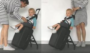 Τώρα καροτσάκι μωρού και βαλίτσα γίνονται ένα!