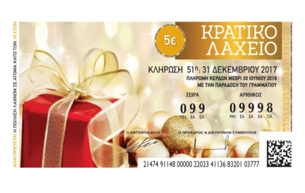 Πρωτοχρονιάτικο Λαχείο – Κρατικό λαχείο κλήρωση: ΟΛΟΙ οι τυχεροί αριθμοί [λίστα] | Newsit.gr
