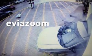 Εύβοια: Σοκαριστικό ατύχημα! Μπούκαρε με την όπισθεν σε μαγαζί γεμάτο κόσμο – Δύο τραυματίες [vid]