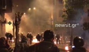 Επεισόδια στην Αθήνα μετά την πορεία για τον Αλέξανδρο Γρηγορόπουλο