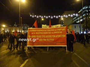 Νέα πορεία διαμαρτυρίας κατά του Ερντογάν στο κέντρο της Αθήνας [pics]