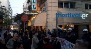 Συγκέντρωση κατά των πλειστηριασμών στη Θεσσαλονίκη [vid]