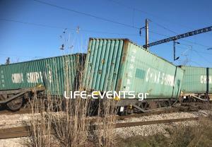 Εικόνες από το τρένο που εκτροχιάστηκε στη Θεσσαλονίκη [vid]