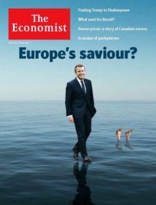 Πρωτοσέλιδο όλα τα λεφτά από τον Economist: Σωτήρας της Ευρώπης ο Μακρόν – Πνιγμένη η Μέι